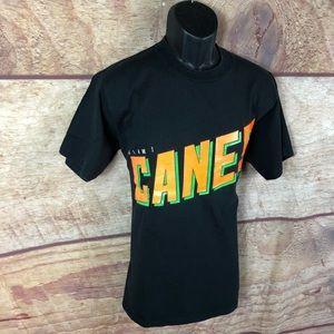 Miami hurricanes t shirt vintage black (a80) B